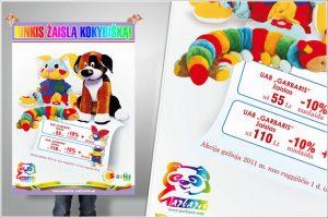 Plakatų spausdinimas - žaislai
