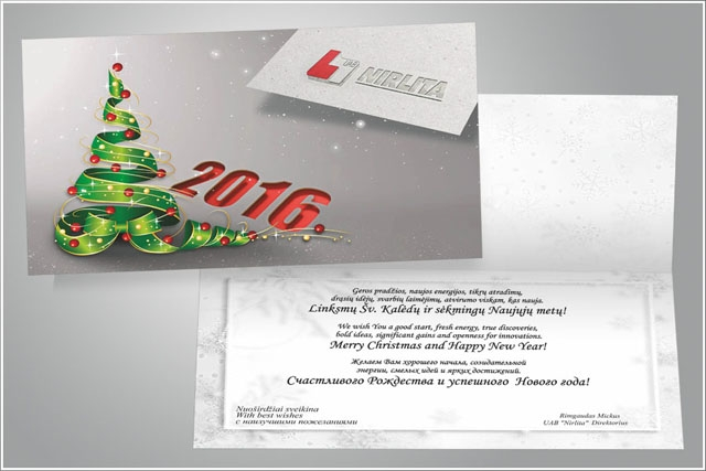 Kalėdiniai atvirukai NIRLITA
