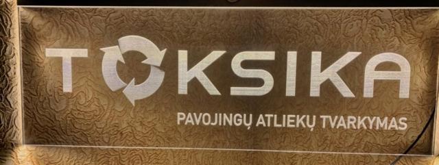 Šviečiantis logotipas, graviruotas, les apšvietimas
