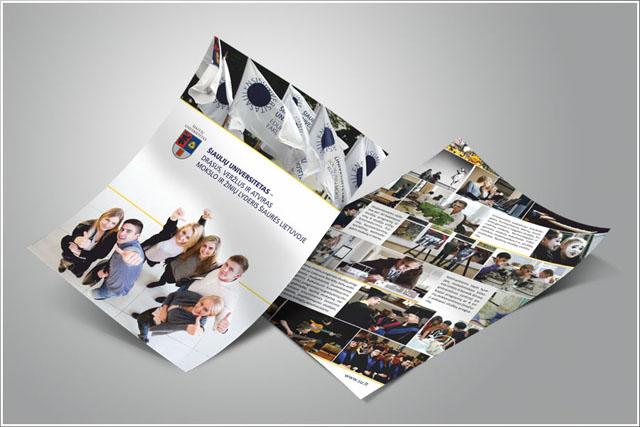 Skrajučių gamyba ir spausdinimas universitetams