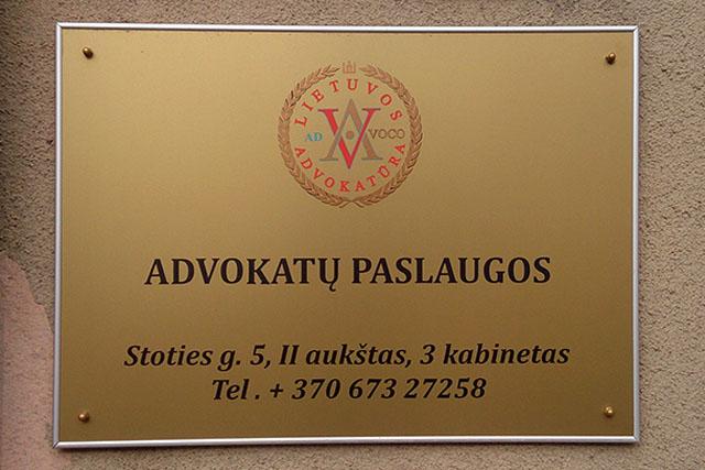 Kabinetų durų lentelės